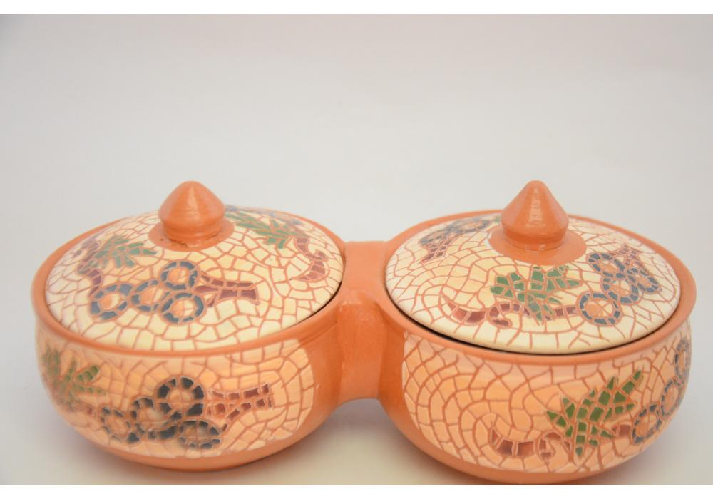 Pottery Powl for serving food nuts popcorn choclates