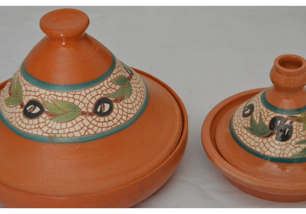 Pottery Food Plates with cover|Set Of 2 plates