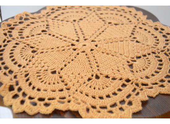 Crochet Cotton Lace Table Placemats Value Pack| 3pcs|Beige| 2* 9 inch- 1* 13 inch