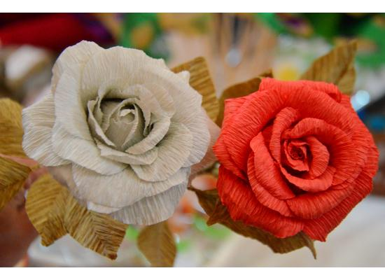 Flower Decorations Crepe Paper Flowers| Handcrafted Flowers