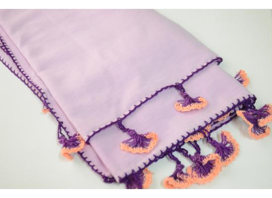 Crochet shawl | Purple color
