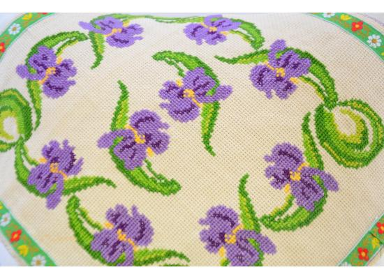 Cushion Cover -Pillow Cases Shells for Home Sofa Chair |Embroidered 37 x 33 cm |Purple & Green