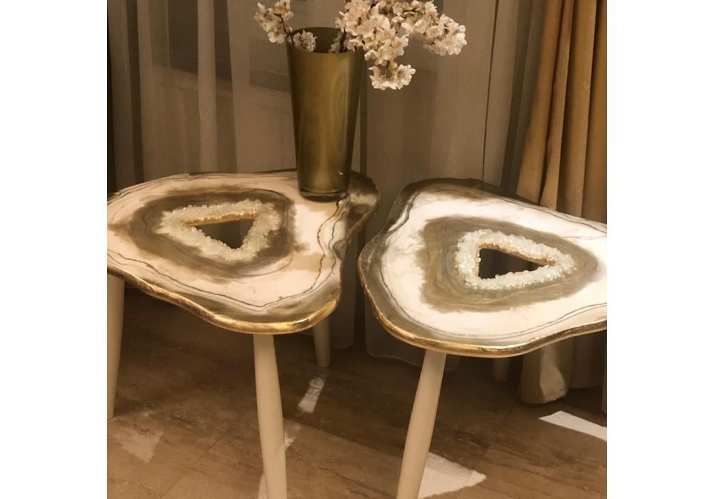 Resin Top Wooden Table | Home Decoration