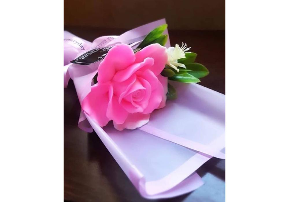 Soap Handmade flowers |Pink & White |Item No.001
