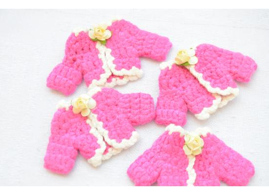 12 Pack Cute Mini Baby Girl Jacket Style Handmade Gift for Guests Keepsake Gift - Baby Shower Party Decorations