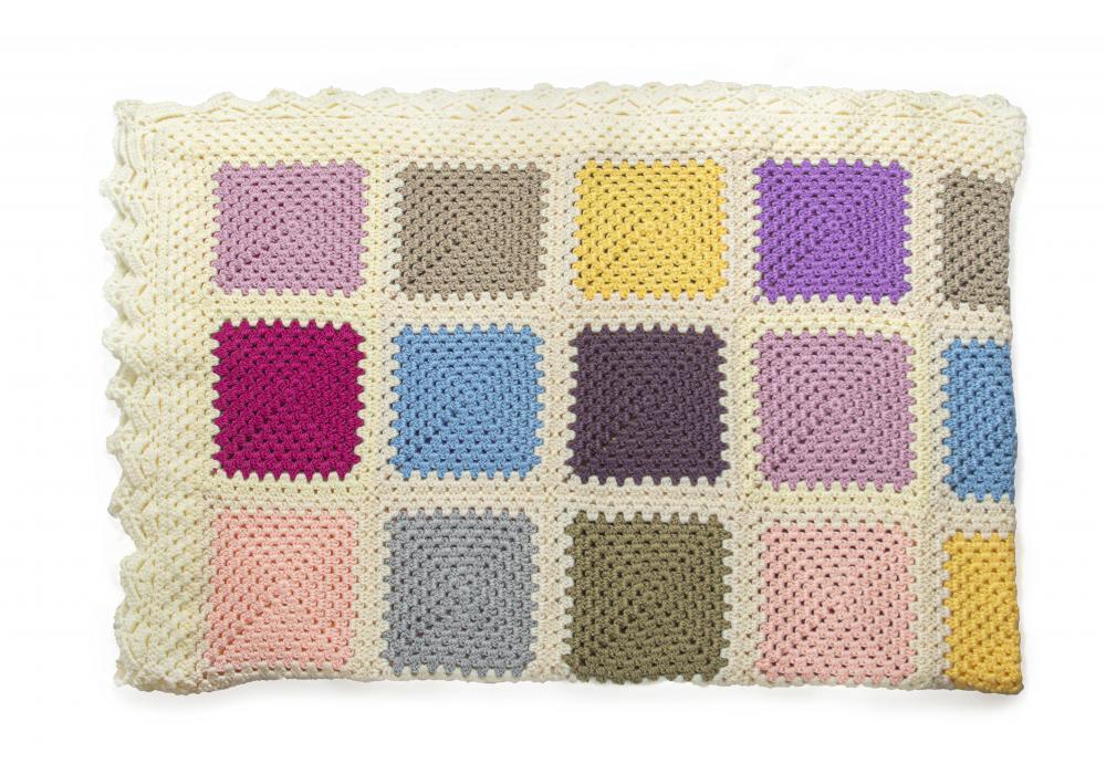 Crocheted Sofa Blanket   Multi Colors