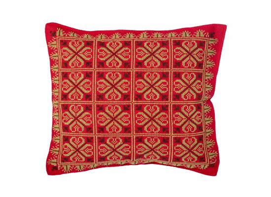 Embroidered Cushion Cover | Pillow Cases Shells for Home Sofa Chair| Red & Green