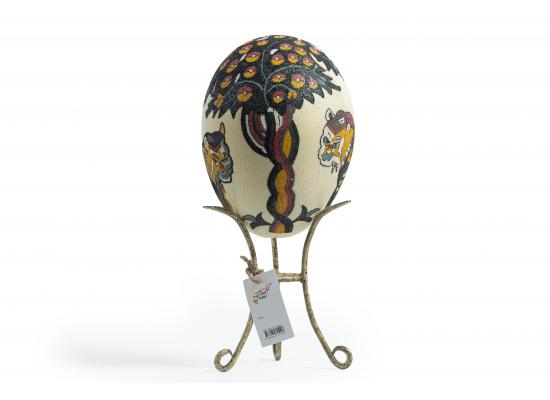 Large Ostrich Eggs With Handmade Painting | An Amazing & Elegant Piece of Art | Lions