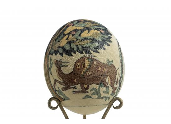 Large Ostrich Eggs With Handmade Painting | An Amazing & Elegant Piece of Art | Deers