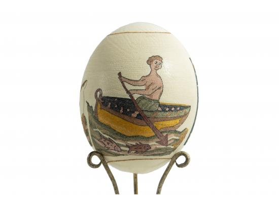Large Ostrich Eggs With Handmade Painting | An Amazing & Elegant Piece of Art | Noah Symbol