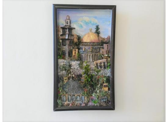 Jerusalem City _Al Aqsa Mosque Portrait -Archaeological site-heritage Sculpture|Great craftmanship