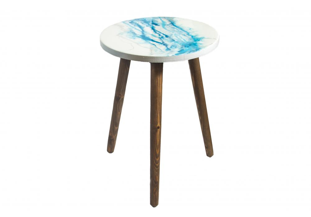 Epoxy Resin Top Wooden Table   Home Decoration