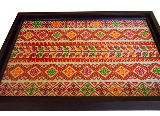 A Luxury  Embroidered Wooden Serving Tray