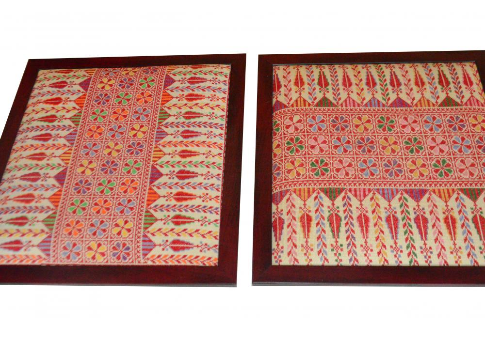 Embroidered Wooden Hanging Frame | Set of 2 Pieces