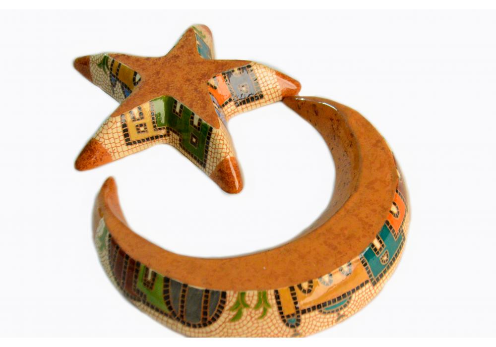 Crescent and Star Tray Set   Moon and Star Tray Hostess Gift   House Warming Gift   Ramadan Gift   Iftar Party Gift   Eid Gift