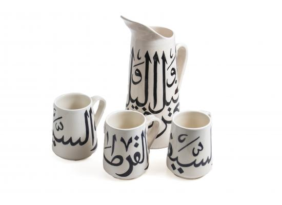 Jug & Mugs Set  | Pottery Set | Glazed pottery & Mugs