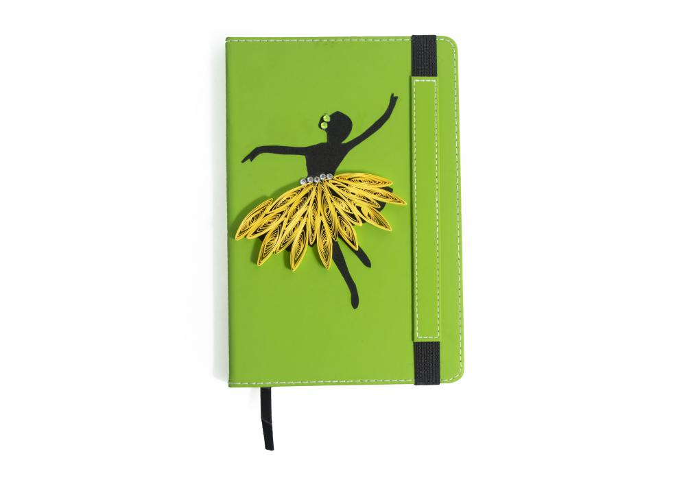 Quilling Art Notebook|Ideal for Schools Gifts |Dancing Girl |  Item No.006